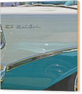 Blue And White Bel Air Convertable Wood Print