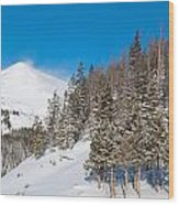 Blue And White Colorado Winter Wood Print