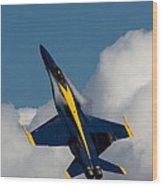 Blue Angel 6 Condensation Climb Wood Print