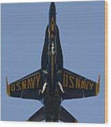 Blue Angel F/a-18 Wood Print