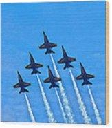 Blue Angel Team Wood Print
