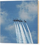 Blue Angels 3 Wood Print