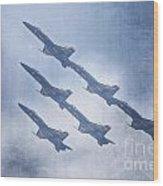 Blue Angels Fa 18 V18 Wood Print