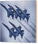 Blue Angels Fa 18 V19 Wood Print