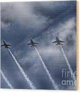 Blue Angels Fa 18 V2 Wood Print