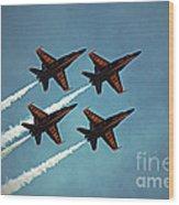 Blue Angels  Wood Print
