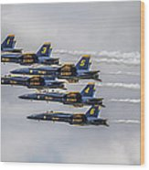 Blue Angels Wood Print by Jeff Swanson