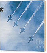 Blue Angels Wood Print