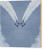 Blue Angels Love Wood Print