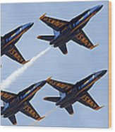 Blue Angels Over Colorado Wood Print