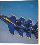 Blue Angels Single File Wood Print