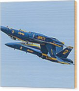 Blue Angels Upright And Inverted 2 Wood Print