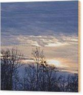 Blue At Dusk Wood Print