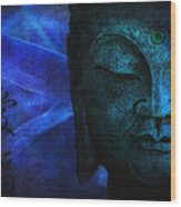 Blue Balance Wood Print
