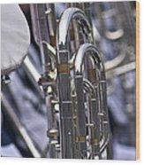 Blue Band Brass Wood Print