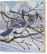 Blue Bandits Winter Afternoon Wood Print