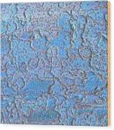 Blue Bark Wood Print