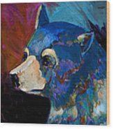 Blue Bear II Wood Print