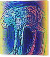 The Blue Beast Inside Of Me Is Waiting For You  Wood Print