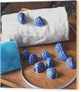 Blue Berries Mini Soaps Wood Print
