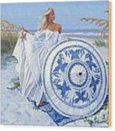 Blue Berry Beach  Wood Print