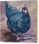 Blue Biddy Wood Print