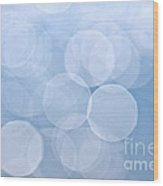 Blue Bokeh Background Wood Print by Elena Elisseeva