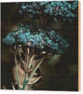 Blue Bouquet Wood Print