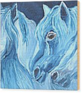 Blue Boyz Wood Print