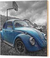Blue Bug Wood Print