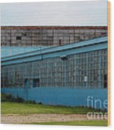 Blue Building In Delaware Ohio Wood Print