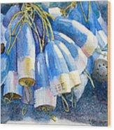 Blue Bundle Wood Print