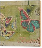 Blue Butterfly Etc - S55ct01 Wood Print