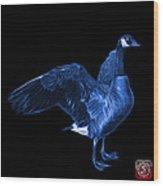 Blue Canada Goose Pop Art - 7585 - Bb  Wood Print