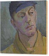 Blue Cap Wood Print
