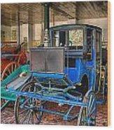 Blue Carriage Wood Print
