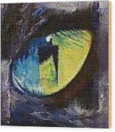 Blue Cat Eye Wood Print