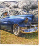 Blue Chevy Deluxe - Hdr Wood Print by Phil 'motography' Clark