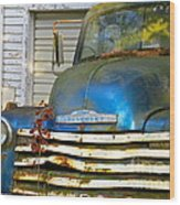 Blue Chevy   Wood Print