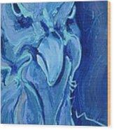 Blue Chicken Wood Print