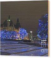 Blue Christmas.. Wood Print