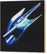 Blue Chrome Jet Wood Print by Phil 'motography' Clark