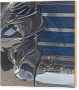 Blue Chrome Wood Print