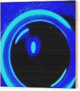Blue Circle Wood Print