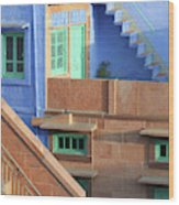 Blue City, Jodhpur, India Wood Print