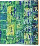 Blue City Wood Print
