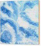 Blue Cloud Wood Print