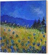 Blue Conflowers 454150 Wood Print