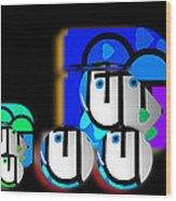 Blue Convoy Wood Print