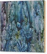 Blue Coral Wood Print